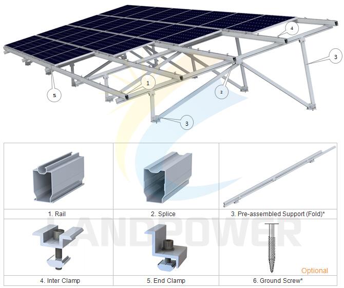Aluminium Landscape Ground Mounting_Ground Mounting System_Solar ...