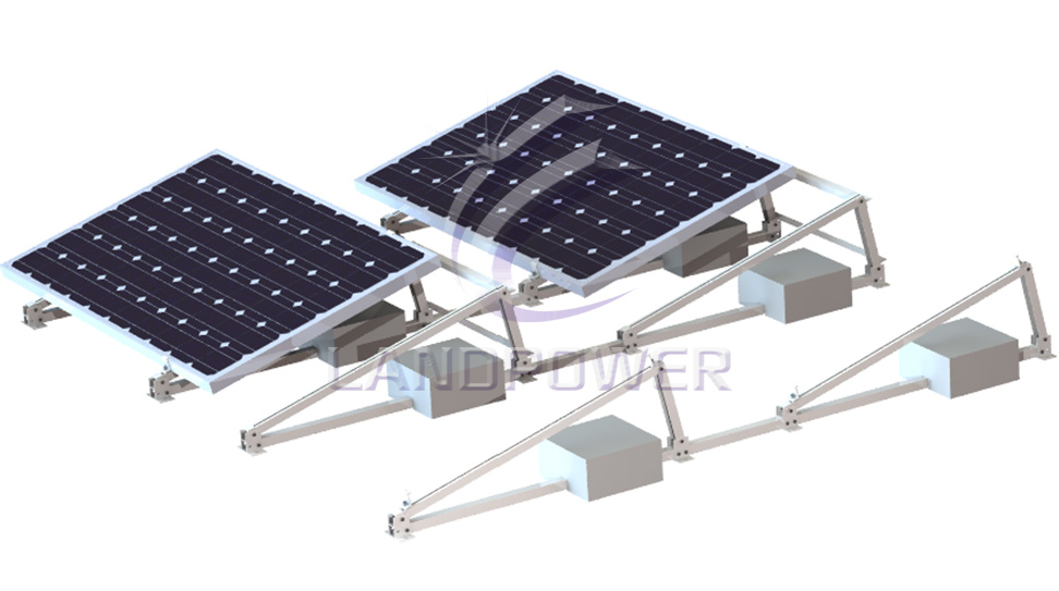 Landscape Ballasted Mounting Flat Roof Mounting System
