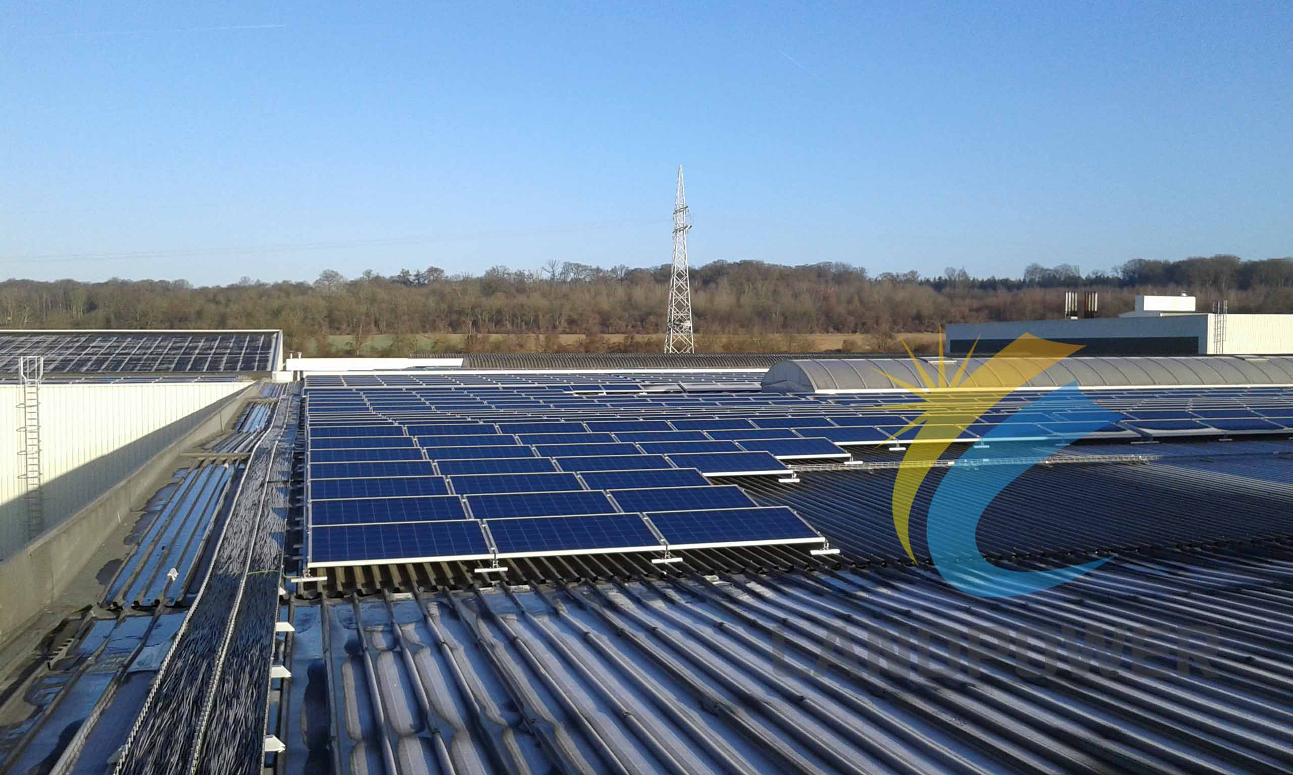 Trapezoidal Metal Roof Mounting 500kw Belgium Project