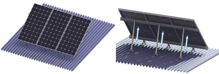 Adjustable Tilt Solar Mounting Pitched Roof Mounting
